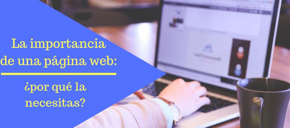 la importancia de una página web - División Andrómeda